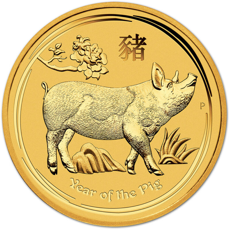 2019 P Australia Gold Lunar Year Of The Pig 1/4 Oz $25 - Bu