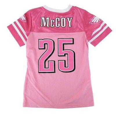 LeSean McCoy NFL Philadelphia Eagles Mid Tier Replica Pink Jersey Girls (Girls Pink Replica Jersey)