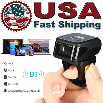 Portable Wireless Bluetooth Scanner Wearable Ring Barcode Reader For Iosandroid