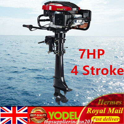 7HP 4 Stroke 50CM long shaft Outboard Motor Boat Engine Air Cooling System UK