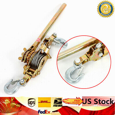 Top 2ton Hooks Come Along Lever Puller Hoist Ratcheting Cable Puller Hand Winch