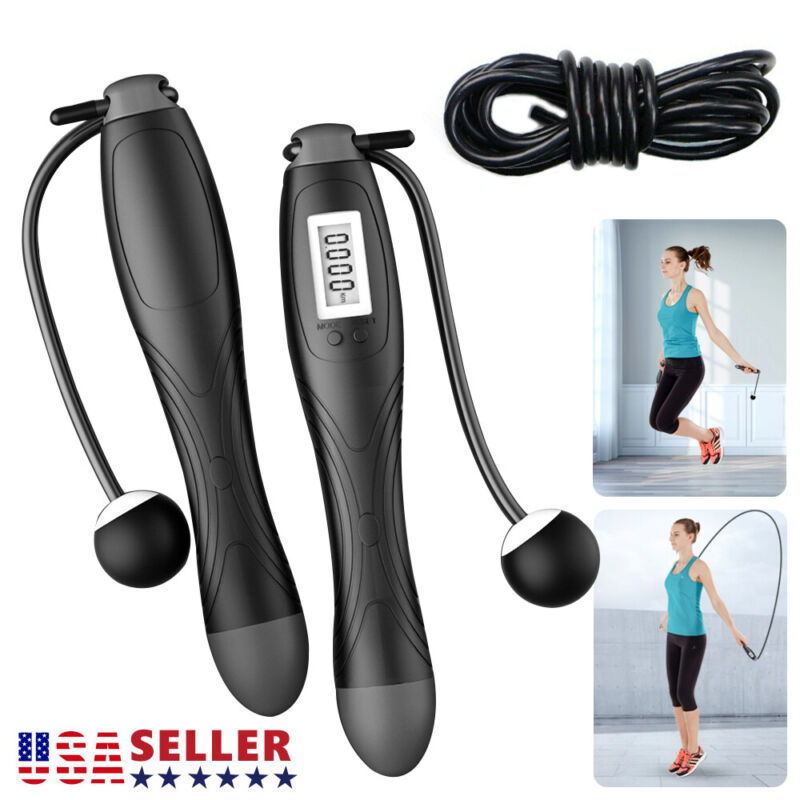 Jump Rope Digital Counting Electronic Calorie Fitness Wireless Skipping Rope NEW