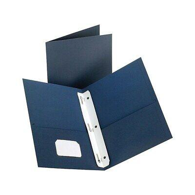 Staples 2-pocket Folder With Fasteners Dark Blue 907790