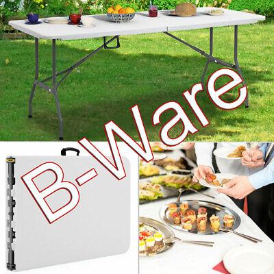 B-Ware Klapptisch Buffettisch Esstisch Gartentisch Campingtisch Tisch 182cm