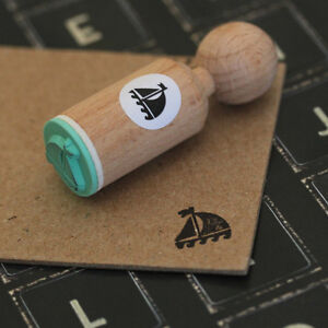 Sailing Boat Very Mini Wooden Nautical Rubber Stamp Craft / Scrapbooking