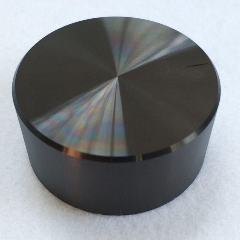 Black 30x17mm Aluminum Knurled Knob Caps Volume Control For 6mm Shaft HI
