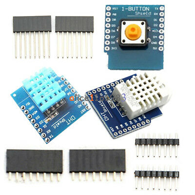 Dht11 Dht22 Am2302 D1 Mini Wemos Temperature Humidity Sensor Button Shield