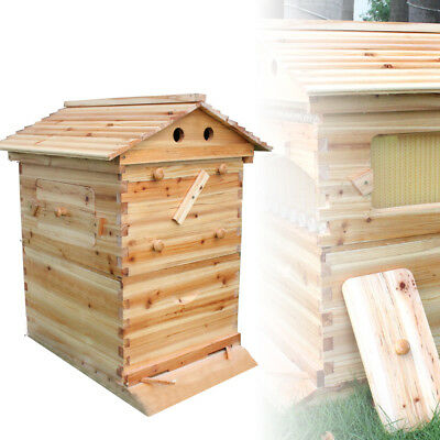 Beekeeping Brood Cedarwood Box Bee Wooden House Deluxe Bee Hive Starter Kit