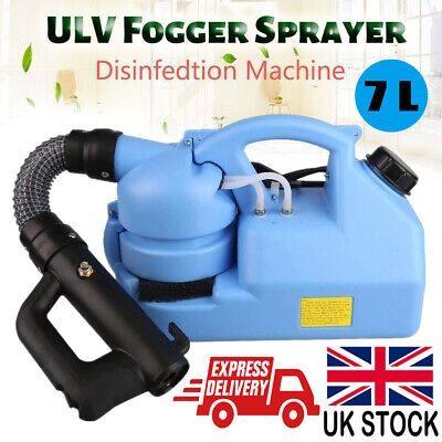 7L ULV Electric Fogger Disinfection Sprayer Mosquito Killer Ultra Low Volume UK