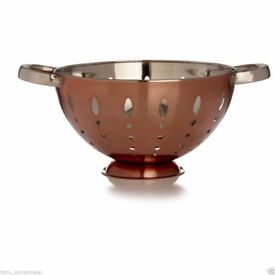 Wilko Colander Copper Effect Fruit Vegetables Pasta Draining........Brand New