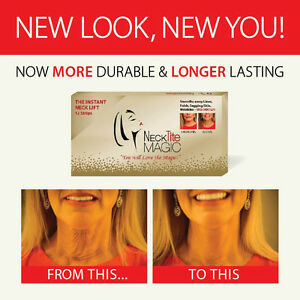 NECKTITE MAGIC INSTANT NECKLIFT NECK LIFT ANTI AGEING/FACE LIFT TAPES PACK  U.K.