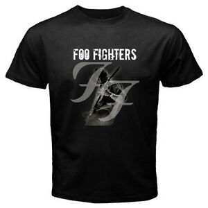 New-FOO-FIGHTER-DAVE-GROHL-Hard-Punk-Rock-Band-Mens-Black-T-Shirt-Size-S-3XL