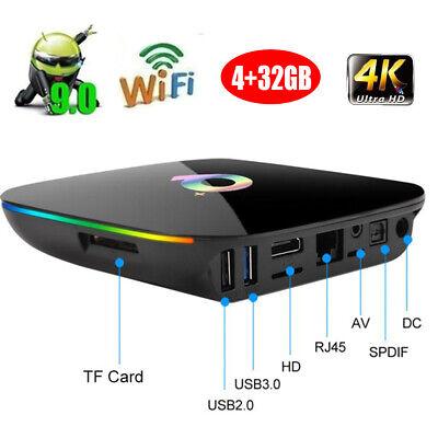Q Plus Android 9.0 TV BOX+keyboard4GB 32GB Smart H6 Quad Core 6K 4K HD H.265 TF