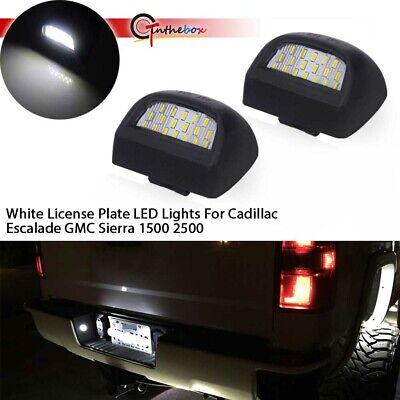 Super Bright White LED License Plate Lights For Silverado GMC Sierra 1500 2500