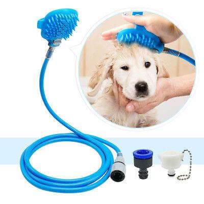 Pet Dog Bath Shower Bathing Tool Brush Water Washer Sprayer Cat Head Cleaning