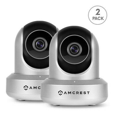 Amcrest  IPM-721S WiFi IP Security Surveillance Camera System (Silver) 2 Pack
