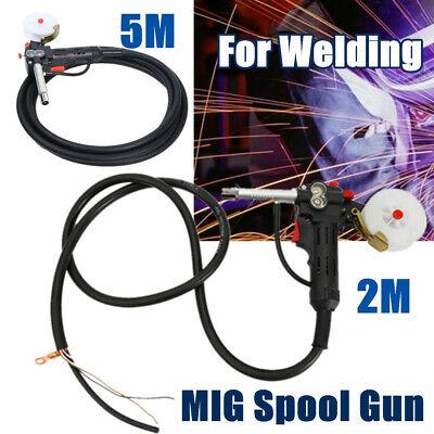 Mig Spool Gun Gas Shielded Welding Gun 2m5m Cable Lead Push Pull Feeder