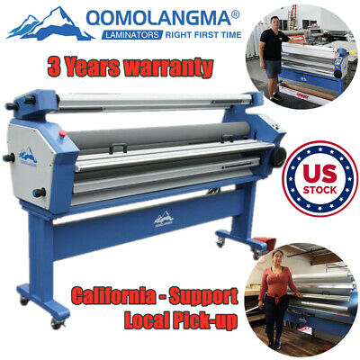 Us Stock Qomolangma 63in Full-auto Wide Format Cold Hot Laminator Up To 40 New