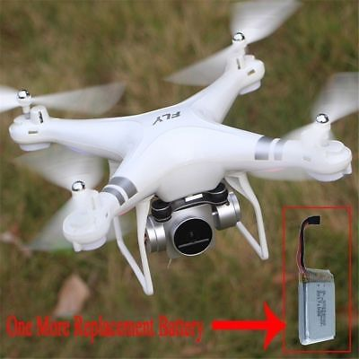 WiFi FPV Drone Wide Angle With HD Camera RC Drone Live Helicopter Extra Battery