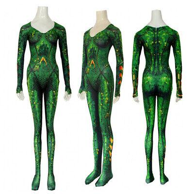 Mera Costume (Aquaman Mera Queen Cosplay Tights Costume Women Zentai Bodysuit Adult)