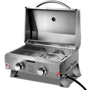 Portable BBQ/Griller Stainless Steel Twin Burner Regulator /Hose Easy Kings Beach Caloundra Area Preview