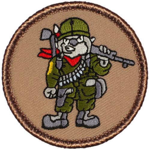 Hilarious Boy Scout Patches - #648 The Combat Wombat Patrol Patch!!