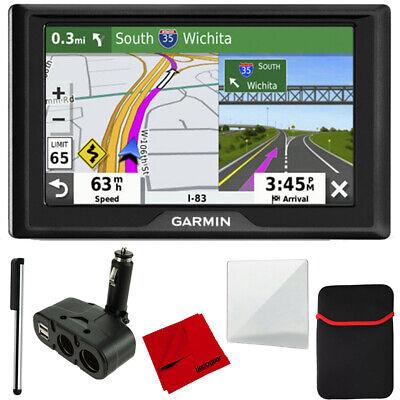 "Garmin Drive 52 5"" GPS Navigator&Traffic Alerts&4 Port USB/DC Car Charger Bundle"