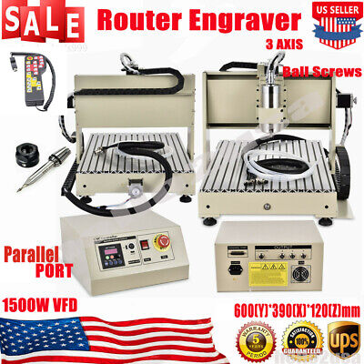 3axis 1.5kw 6040 Cnc Router Metal Engraver Machine Remote Controller F Pcb Wood