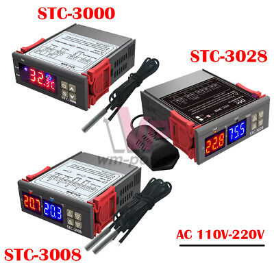 110-220v Stc-3000 Stc-3008 Stc-3028 Thermostat Temperature Controller Ntc Sensor