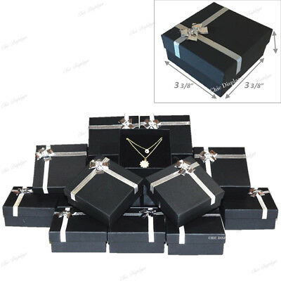 Necklace Gift Boxes Bow Tie Large Earring Box Pendant Box Wholesale Boxes 48-pc