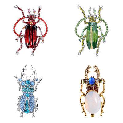 Silver Crystal Rhinestone Beetle Bug Insect Animal Halloween Jewelry Pin Brooch](Halloween Beetle)