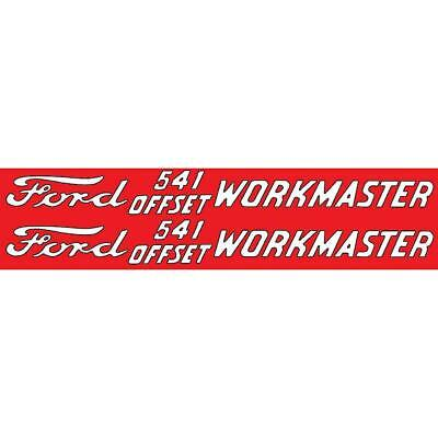 Dec362 Fits Ford 541 Offset Workmaster Set Of 2 Mylar Decals Fits Ford
