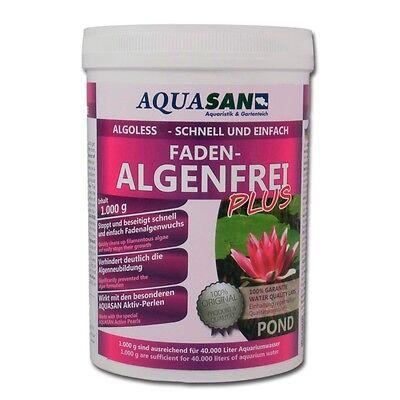 AQUASAN Algoless Fadenalgenfrei Plus! Fadenalgenvernichter Algenmittel 1000 g