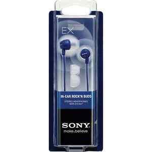 NEW Sony EX Rock'n Buds In-Ear Stereo Earphones - Blue Headphones EX10LP
