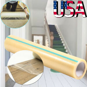 Home Roll Self Adhesive Carpet Protector Dust Plastic Protection Film 24