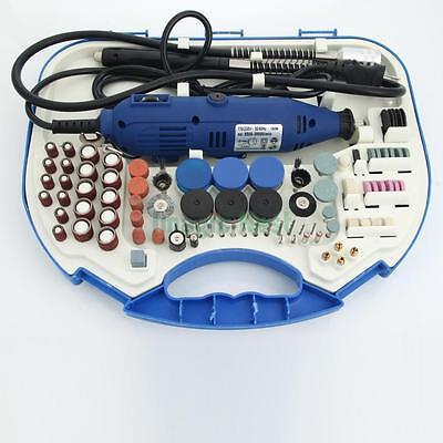 Portable 167Pcs Rotary Tool Craft Kit Set Engraver Drill Sander Grinder Polisher