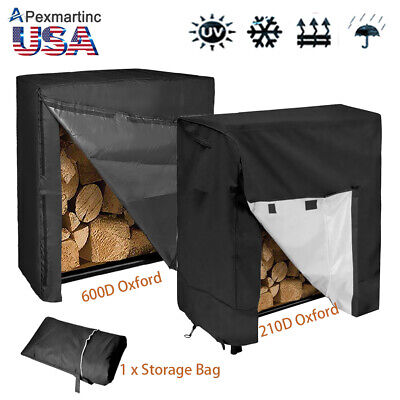 4ft Outdoor Waterproof Firewood Rack Log Full Cover Heavy Duty Dust (Outdoor Log Rack Cover)