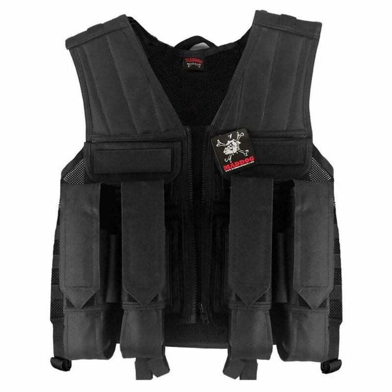 Maddog Tactical Paintball Battle Vest Milsim Black
