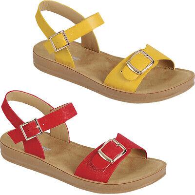 Women Soft Footbed Sandals Ankle Strap Buckle Flatform Platform Comfort Shoes
