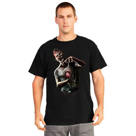 T Shirt Digital Dudz Beating Heart Zombie T-Shirt Halloween Party Horror - Mens Large - NEW