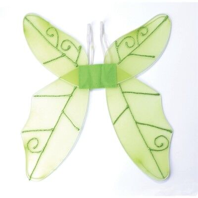Green Ladies Butterfly Wings - Fancy Dress Adult Accessory Fairy Fancy Dress - Fairy Fancy Dress Adults