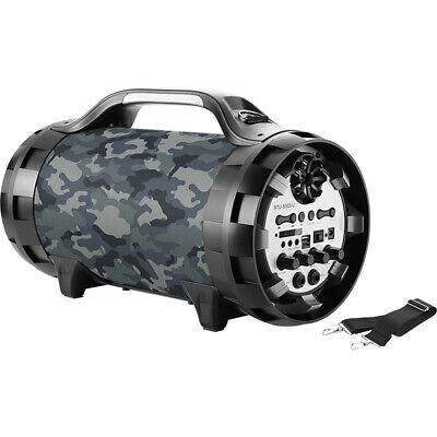 Bigben Bluetooth Akku Lautsprecher FM Radio, Micro SD, AUX, USB, Mikrofone, LED