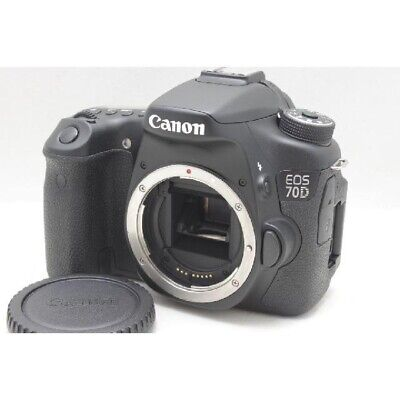 Canon EOS 70D 20.2MP Digital SLR Camera Black(Body Only) Japan Working DHL FedEx