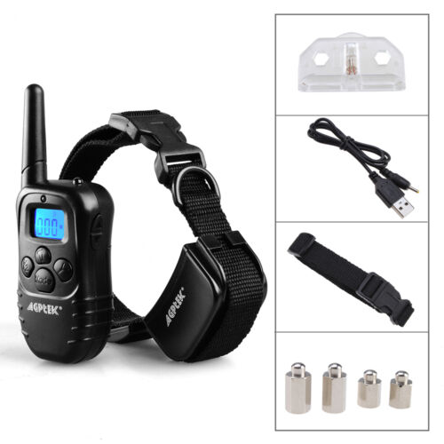 AGPtek Rechargeable Electric E-Collar Remote Pet Dog Shock Vibra Training Collar