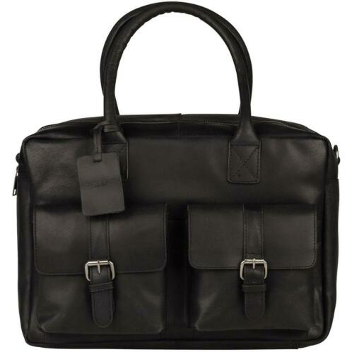 Burkely Finn Vintage Business Schoudertas 792322 Black