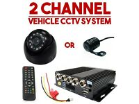 2x Cameras Vehicle CCTV DVR In Car Taxi Van Camera Minibus Security Monitoring System