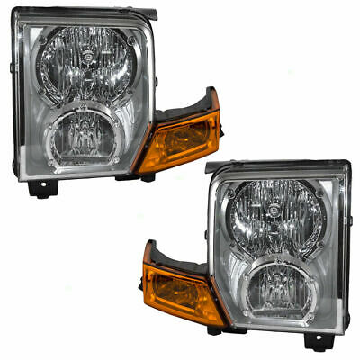 FITS FOR 2006 2007 2008 2009 2010 JEEP COMMANDER HEADLIGHT RIGHT & LEFT
