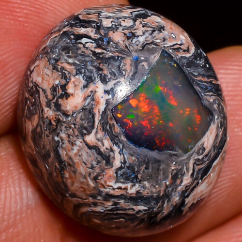 Exclusive Quality Natural Mexican Fire Opal Oval Cab 19x16x9mm Gemstone 16.75Cts