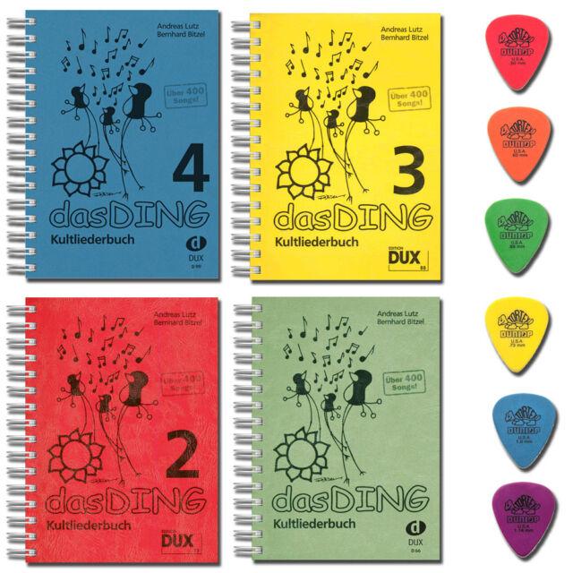 Kultliederbuch DAS DING 1 2 3 4 - ohne Noten -  mit 6 Original Dunlop Pleks