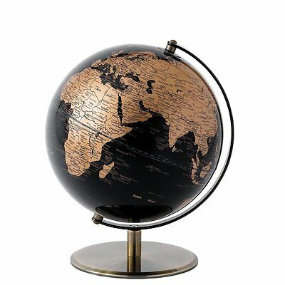 Black and Copper World Globe (20cm) NEW Home Decor  25913